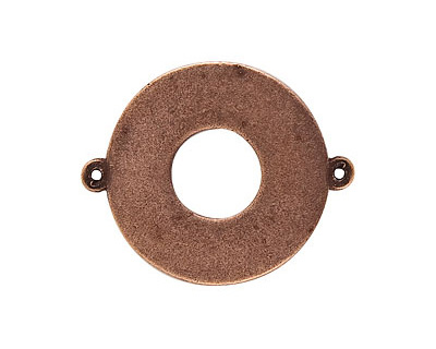 Nunn Design Antique Copper (plated) Flat Grande Circle Tag Link 31mm