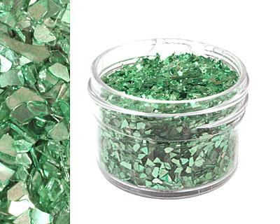 Peridot Vintage Glass Glitter (Shards) 1 oz.