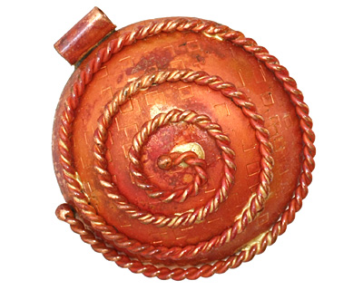 Patricia Healey Copper Spiral Rope Pendant 35x39mm