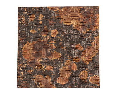 Lillypilly Mottled Thatch Embossed Patina Copper Sheet 3