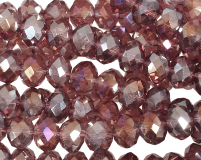 Raspberry Mocha AB Crystal Faceted Rondelle 8mm