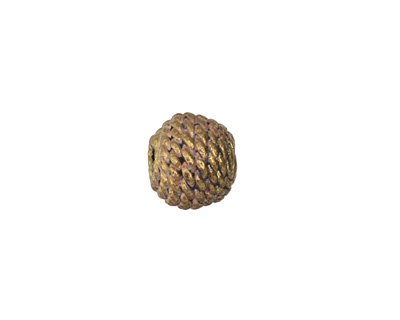 African Brass Roped Round (large hole) 11-13mm