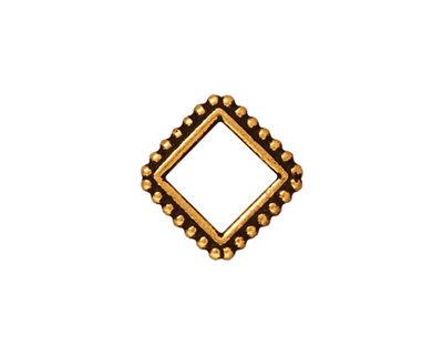 TierraCast Antique Gold (plated) 8mm Diamond Bead Frame 16mm