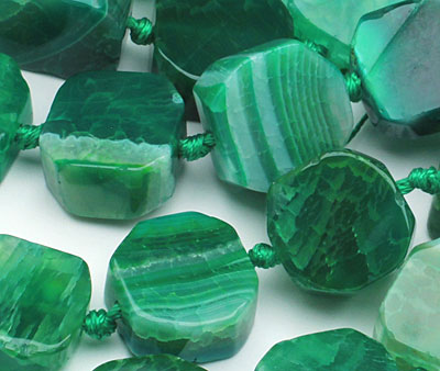 Apple Green Agate Nugget Slice 16-18mm