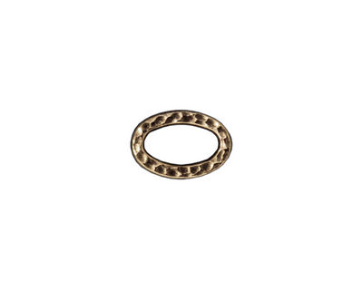 TierraCast Antique Brass (plated) Small Hammertone Oval Ring 12x8mm