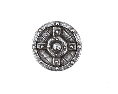 Green Girl Pewter Shield Button 22mm