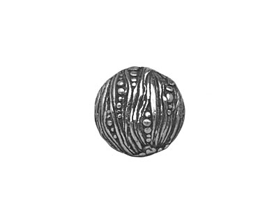 Mamacita Beadworks Pewter Seaweed Button 15mm