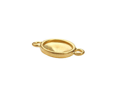 TierraCast Gold (plated) Faceted Link 21x14mm