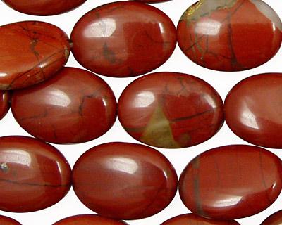 Red Jasper Flat Oval 18x13mm