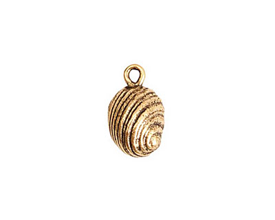 Nunn Design Antique Gold (plated) Snail Charm 10x16mm