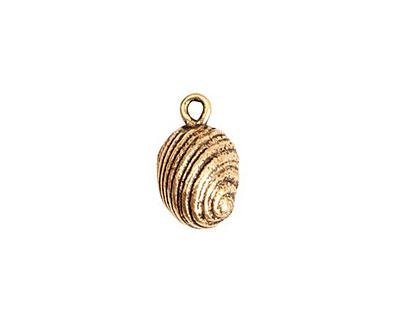 Nunn Design Antique Gold (plated) Snail Charm 10x16mm