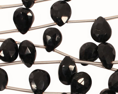 Spinel Faceted Flat Teardrop 7-9x8-12mm