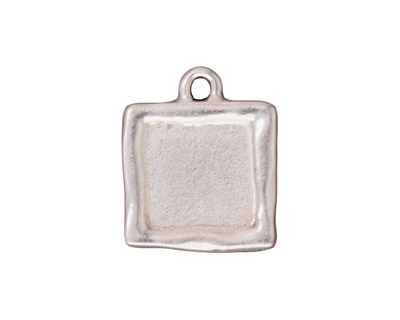 TierraCast Antique Silver (plated) Simple Square Frame Drop 18x21mm