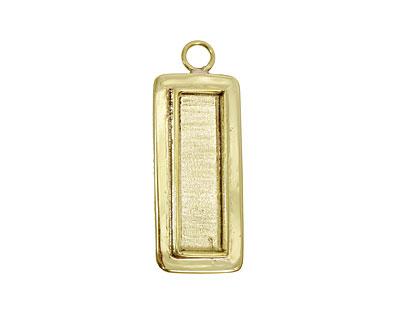 Brass Lipped Narrow Rectangle Bezel 12x36mm