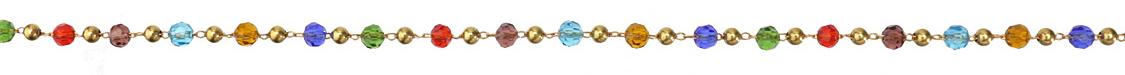 Zola Elements Jewel Tone Crystal & Brass Rounds Brass Bead Chain
