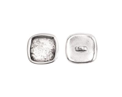 Nunn Design Antique Silver (plated) Small Square Frame Button 12mm