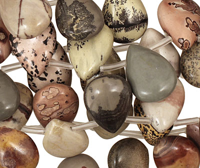 Coffee Bean Jasper Flat Teardrop 13x18mm