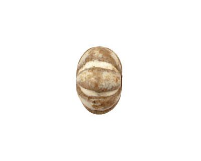 Gaea Ceramic Pearl on Tan Lantern 9x15-16mm