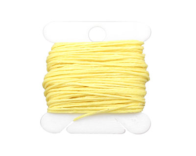 Lemon Yellow Irish Waxed Linen 4 ply