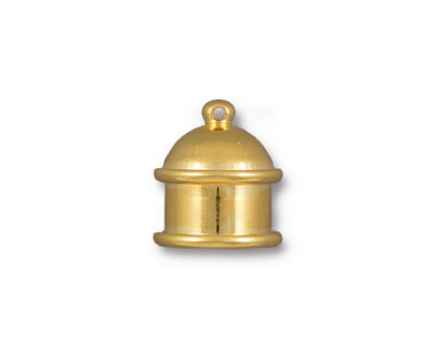 TierraCast Gold (plated) Pagoda 10mm Cord End 15.5x14mm