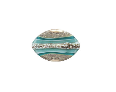 A Beaded Gift Silvered Teal Layers Zulu 13x19mm