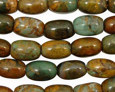 African Green Opal Rice 12x8mm