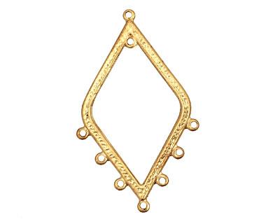 Brass Hammered Diamond Chandelier 31x51mm