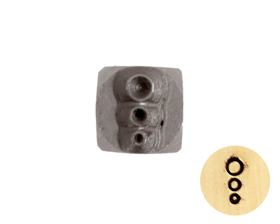 Bubbles Metal Stamp 4mm