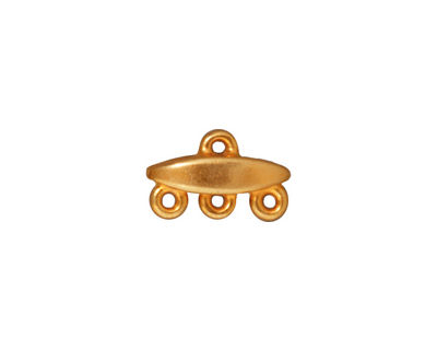 TierraCast Gold (plated) 3-1 Almond Link 9x15mm