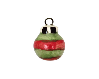 Jangles Ceramic Green Ornament Charm 14x19mm