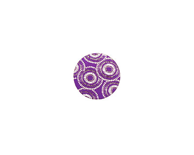 Lillypilly Purple Dandelion Anodized Aluminum Disc 11mm, 24 gauge