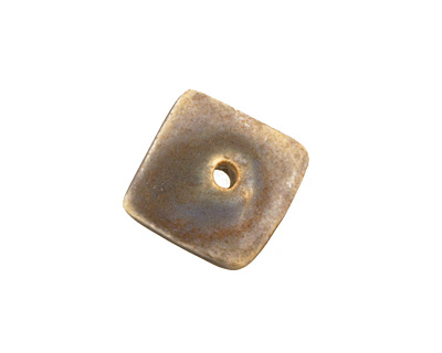Jangles Ceramic Grey Small Square Disc 15mm