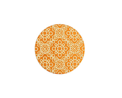 Lillypilly Orange Baroque Anodized Aluminum Disc 19mm, 24 gauge