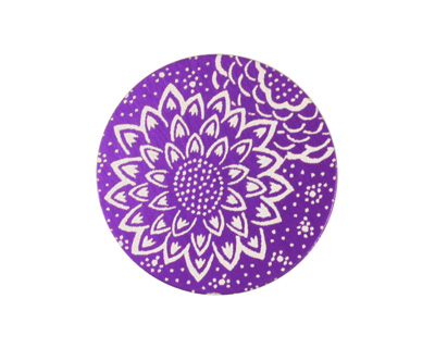 Lillypilly Purple Dahlia Anodized Aluminum Disc 25mm, 24 gauge