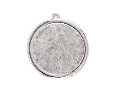 Nunn Design Sterling Silver (plated) Framed Large Circle Pendant 38x41mm
