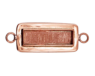 Copper Lipped Narrow Rectangle Bezel Link 12x36mm
