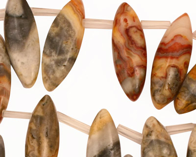 Crazy Lace Agate Spear Drops 8x23-25mm