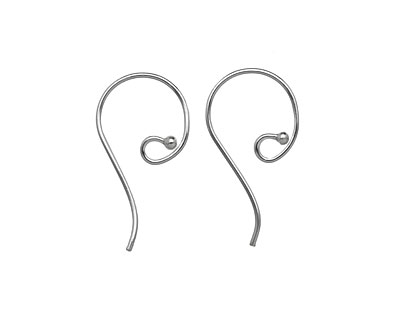 Saki Sterling Silver Small Round Loop w/ Ball Earwire 16x31mm