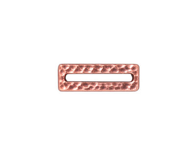 TierraCast Antique Copper (plated) Hammered Rectangle Link 18x6mm