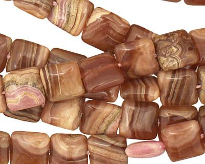 Brown Rhodochrosite (A) Puff Square 10mm