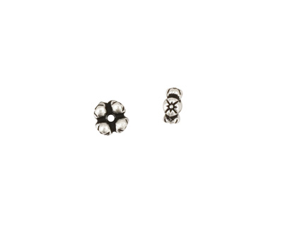 TierraCast Antique Silver (plated) 4 Flowers Heishi 3x6mm