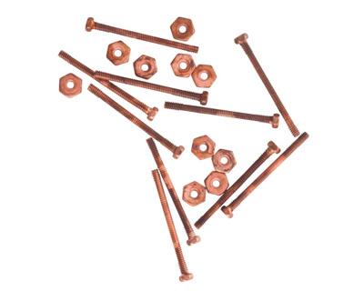 Nunn Design Antique Copper (plated) Micro Screw & Nut Set