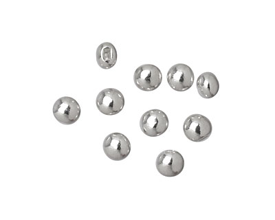Beadalon Silver (plated) Flat Memory Wire End Cap 5x4mm