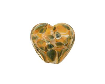 Grace Lampwork Multi-Color Boro Heart 19-20mm