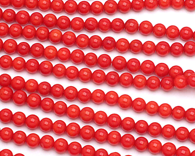Red Coral Round 6mm