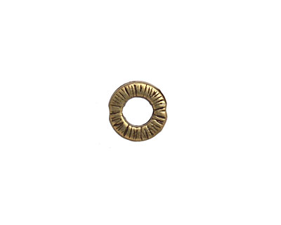 Antique Brass (plated) Textured Ring 10mm
