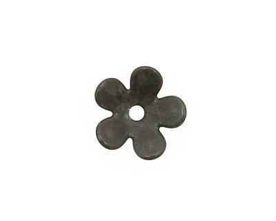 C-Koop Enameled Metal Steel Gray 5 Petal 15mm