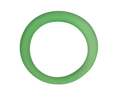 Green Soda (Sea Glass Finish) Glass Bottle Ring 40-55mm