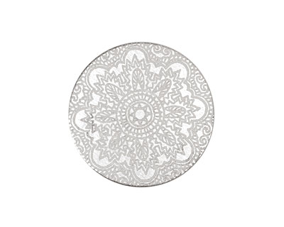 Lillypilly Silver Lace Anodized Aluminum Disc 25mm, 22 gauge