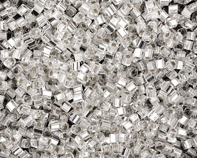TOHO Crystal (with Silver Lining) Cube 1.5mm Seed Bead
